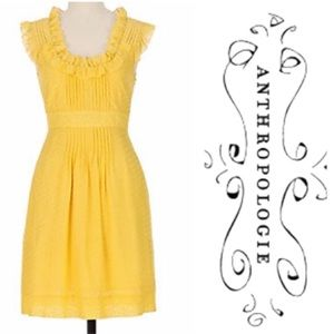 Sweet Swiss Dot Yellow Behind The Clouds Dress